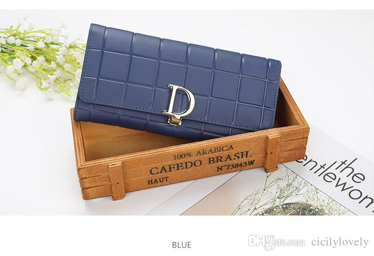 Brand hot men's and women's holding a purse single zipper banknotes folder card wallet clutch bag and box 7color