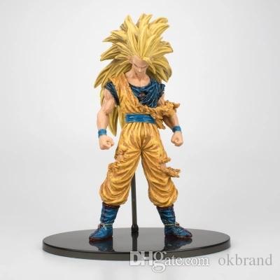 Chanycore 21Cm Anime Japonês Dragon Ball Z Dano de Batalha Ver Super Saiyajin 3Son Goku Gohan Vegeta Figura de Ação Modelo Pvc brinquedo