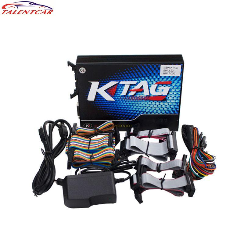 New Arrival KTAG V7.020 SW V2.23 Master Version 2.23 K TAG 7.020 No Token Limited For Car Truck K-TAG Auto ECU Programming Tool Code Reader