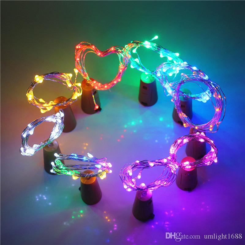 1M 2M 3M 5M Cork Shaped Lights Mini String Lights Wine Bottle Fairy Strip Battery Operated Starry Lights For DIY Christmas Wedding Party