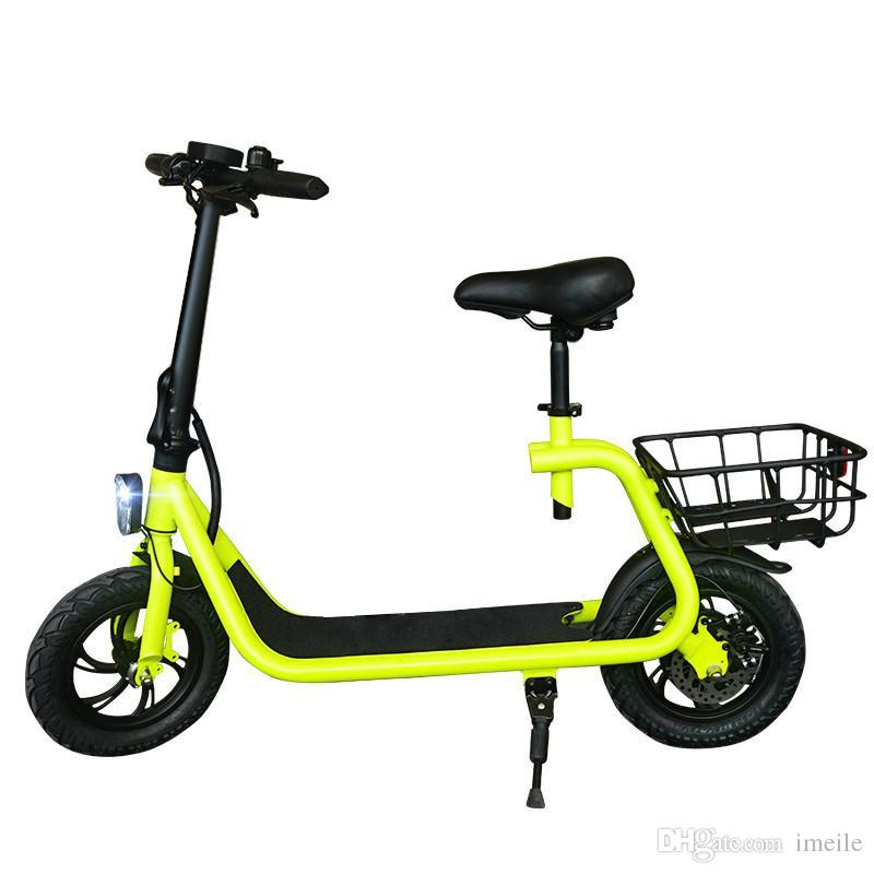 Electric Scooter With Seat >> Daibot Adult Electric Scooter Car Two Wheel Electric Scooters With Child Seat 12 Inch 350w 36v Portable Electric Bike Two Seater Electric Scooter For