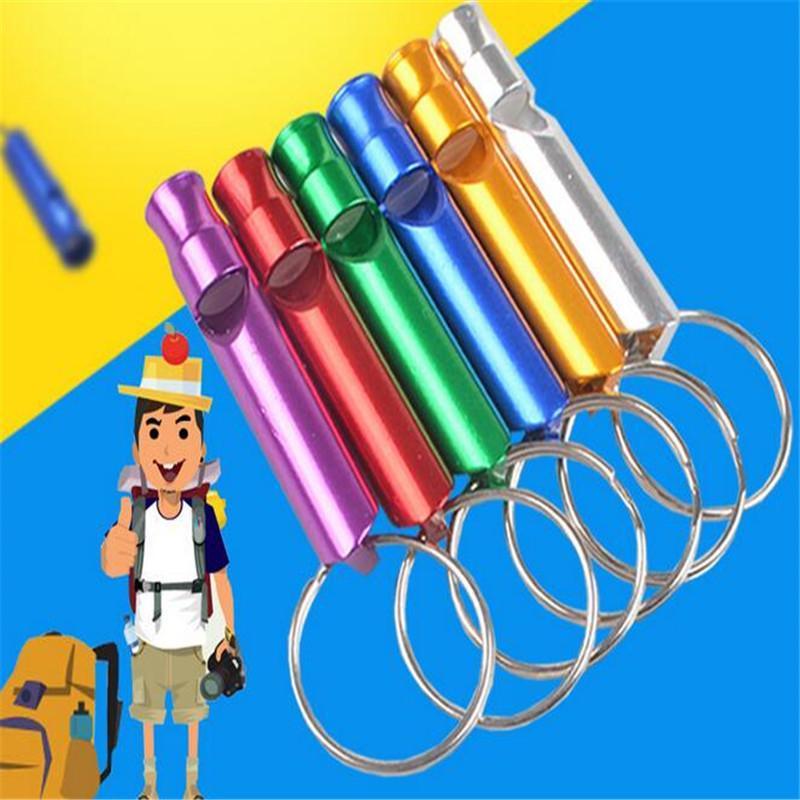 Свисток брелок Мини алюминиевого Emergency Survival Whistle с ключевыми Подвесками цепи Кольца спасения свистки выживание подарок способом сплав подарок DHL