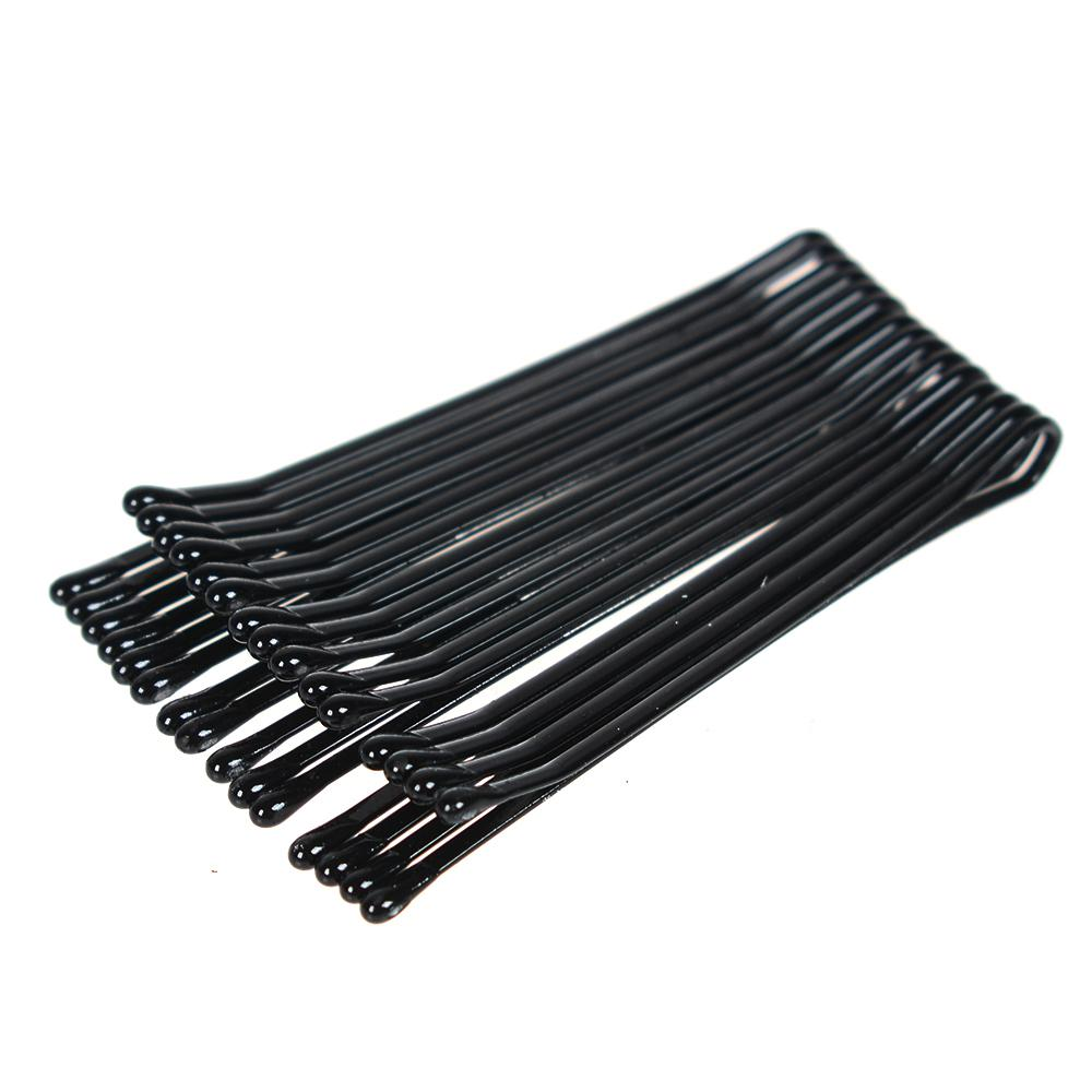 Black Women Bobby Pins Invisible Wave Hair Grips Salon Barrette Horquilla Horquillas para el cabello 60 piezas