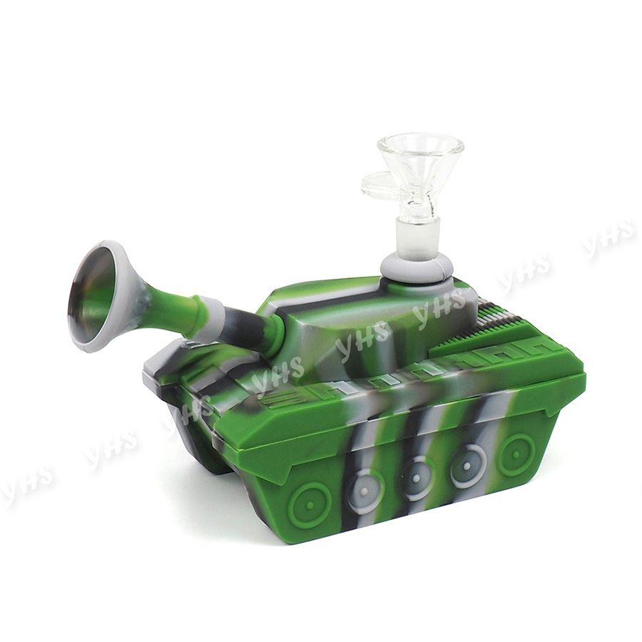 """tubo de silicona de fumar 4,1"""" tubo mano tanque de agua burbujeador portátil Hookah de silicona Bongs aparejo de aceite de cera de tuberías de agua de silicona"""