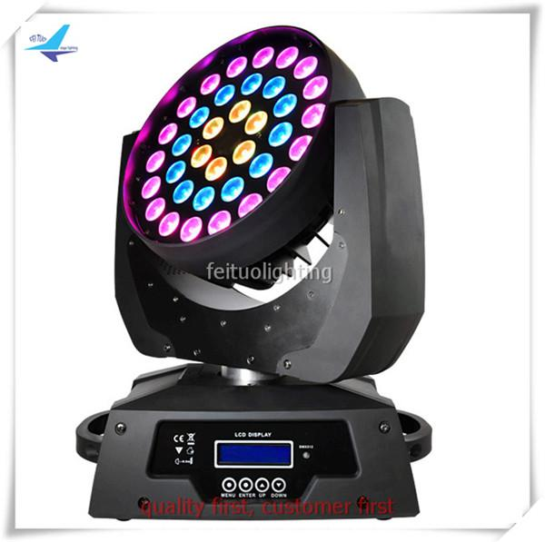 A- 1pcs RGBWA 36X15W zoom led moving head wash 5 in 1 LED CE and Rhos