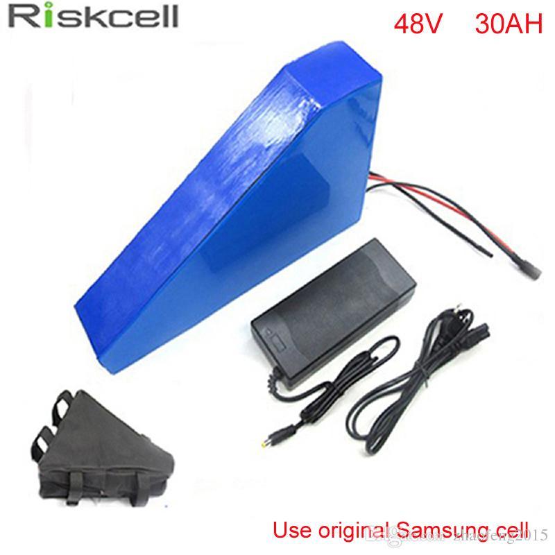 Новое поступление Треугольная форма литий-ионный аккумулятор 48 В 30Ah 1000 Вт с треугольной сумкой для электрического велосипеда велосипеда для Samsung клетки
