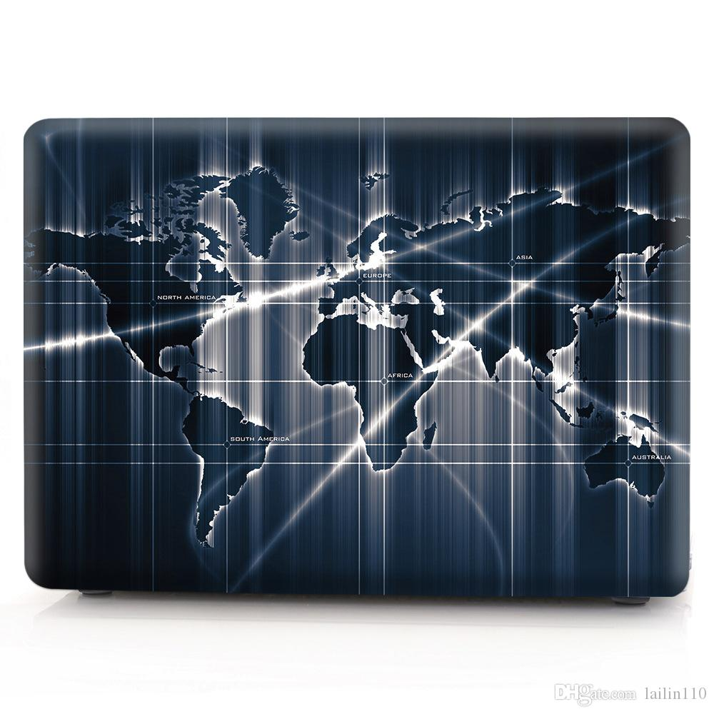 Map-5 Oil painting Case for Apple Macbook Air 11 13 Pro Retina 12 13 15 inch Touch Bar 13 15 Laptop Cover Shell