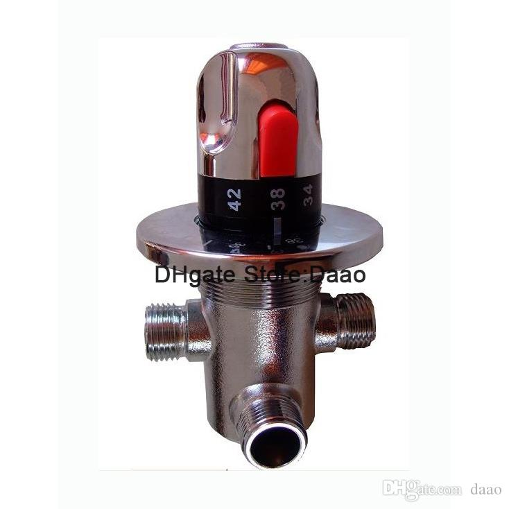 Brass thermostatic valve , DN15 thermostatic valve, solar heater valve, thermostatic mixer