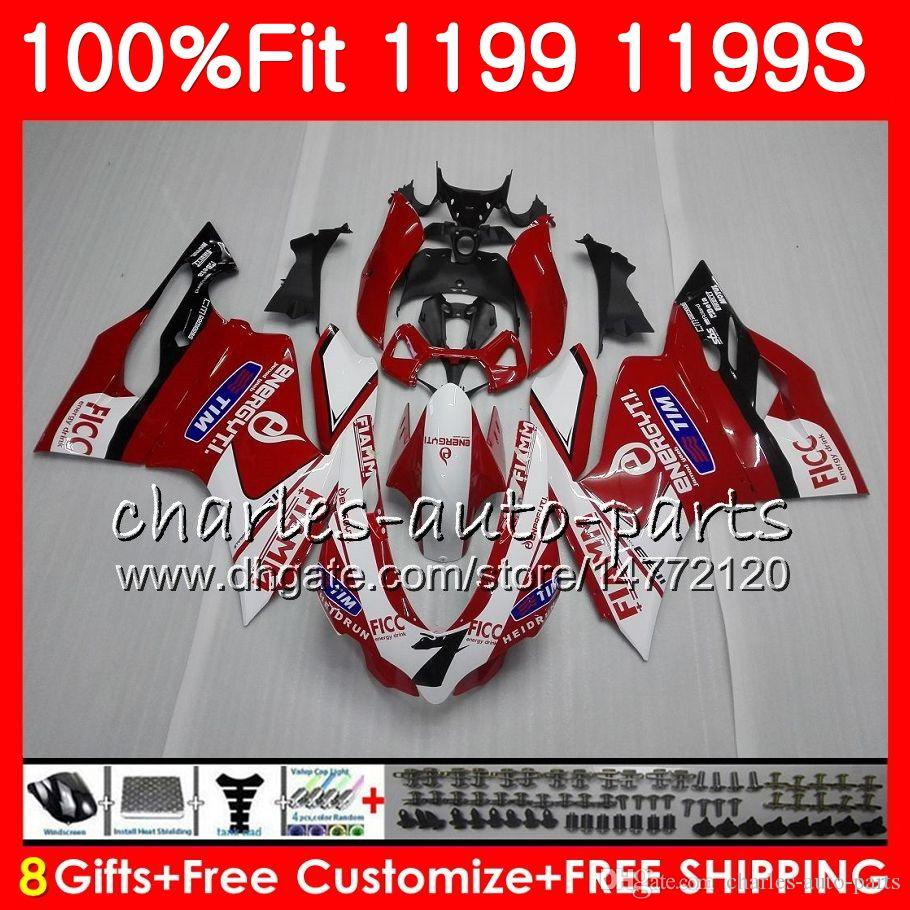 Injection Body For DUCATI 899 1199 S R Panigale 12 13 14 15 16 106HM.0 899R 1199R 899S 1199S 2012 2013 2014 2015 2016 Fairing FIAMM Red Hot