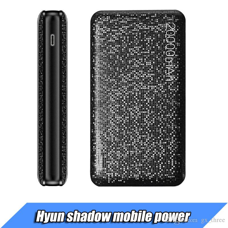 USAMS Portable Power Bank 15mm Ultra delgado Slim 10000 mAh Powerbank 2.1A Cargador de salida para S8 teléfono móvil Tablet PC Batería externa