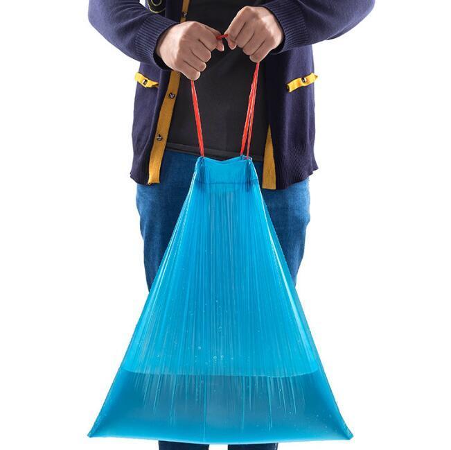 большие одноразовые drawstring мешки для мусора сильный утолщаются пластиковые кухня мешки для мусора очистки мусора мешки для мусора главная кухня ванная комната использование