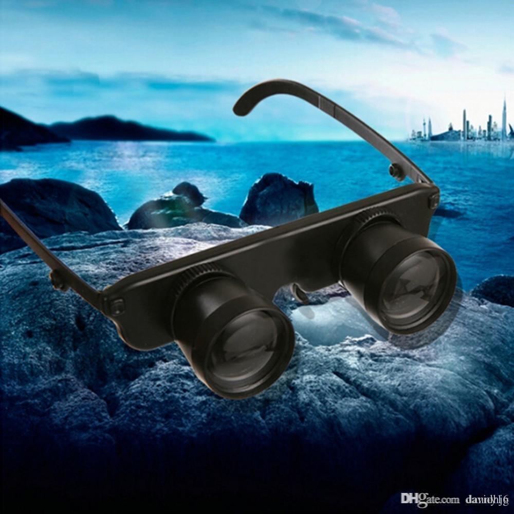 3x28 lupa gafas estilo al aire libre pesca óptica binoculares telescopio alta claridad
