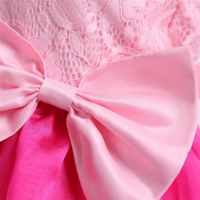 fd8ec29c1250d ... Cuhk enfants dentelle robe en mousseline de soie robe fille rose rose  robes sans manches Back ...
