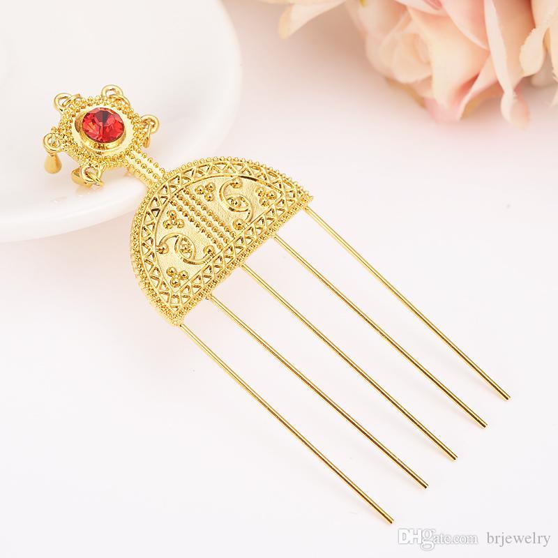 Oro argento etiopico Tornante Gioielli Etiopia Capelli pettini Africa Hair Pin / Eritrea / Kenia / Bastoncini / Habasha ragazze ciondoli fai da te