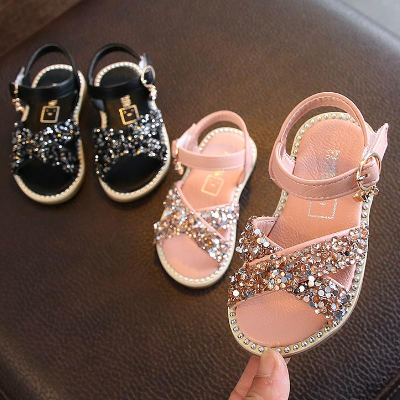 Sequined Baby Girl Princess Sandals