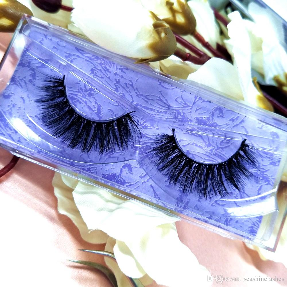 Seashine 3D Real Mink Eyelashes Logo personalizado 10 Pairs / Lot Luxury Box With Top Mink Lashes Maquillaje Belleza Hecho a mano EyeLashes Extension
