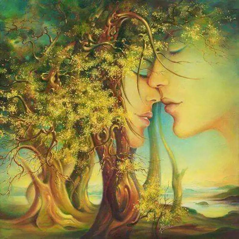 جميلة الحب الحفر الكامل diy فسيفساء التطريز الماس اللوحة التطريز عبر الابره الحرفية عدة جدار ديكور المنزل شنقا