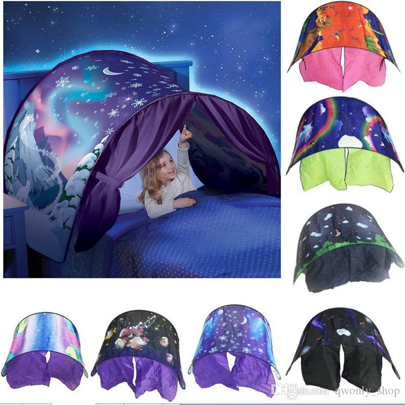 super popular 2cb91 8f889 Kid Baby Dream Tent Children Fantasy Foldable Unicorn Moon White Clouds  Cosmic Space Snow Tent Fancy Sleeping Prop Without Night Light Mosquito ...