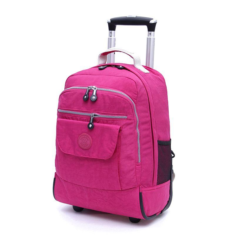 Rolling Luggage Travel Backpack Hombro Spinner Mochilas Ruedas de gran capacidad para maletas Trolley Carry on Duffle Bag WSD1505