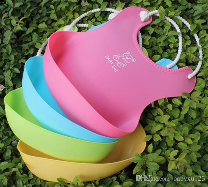 طفل الرضع أطفال لطيف المرايل المرايل الغداء الوليد الأطفال منشفة للماء قابل للغسل تغذية سيليكون التجشؤ Y273