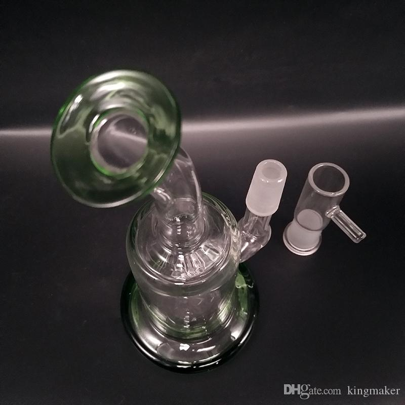 E-сигареты кальяны прозрачное стекло Бонг для курения сухой травы Dab Рог мини прозрачное стекло трубы для курения водопровод с Banger чаша барботер