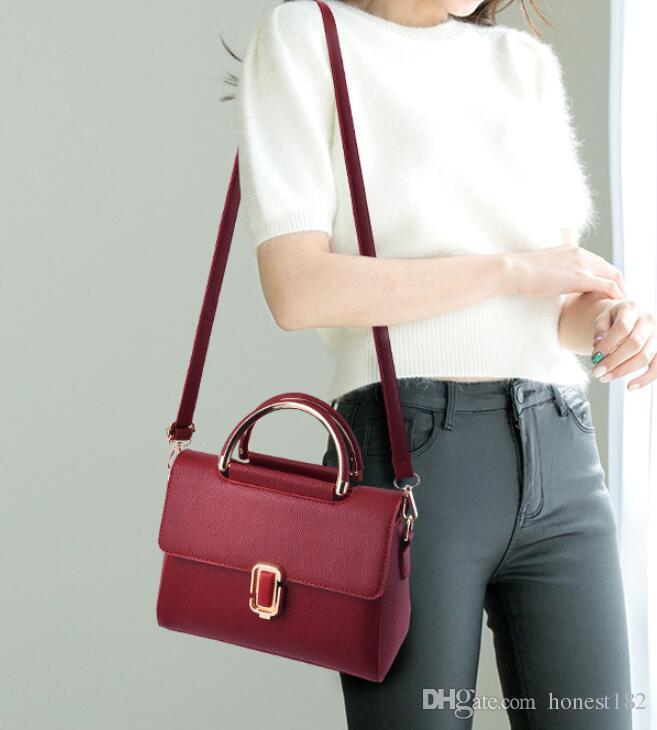 Einfache 2018 neue kleine Tasche Damen süße Damenmode Handtaschen Umhängetasche Handtaschen