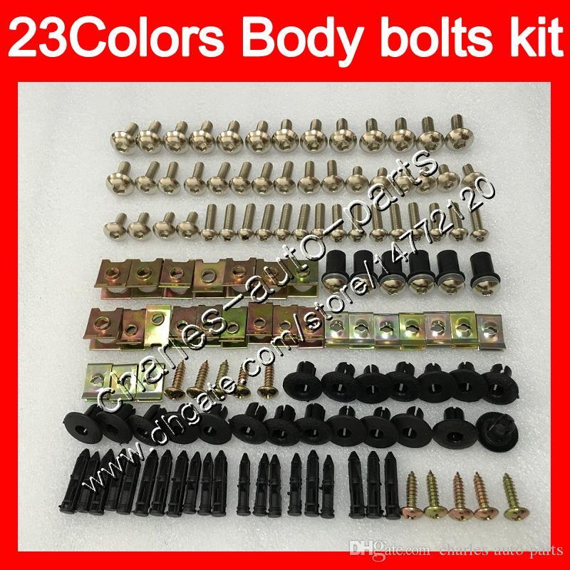 Kit completo de tornillos de carenado Para YAMAHA YZFR1 04 05 06 YZF R1 YZF 1000 YZF1000 YZF-R1 2004 2005 2006 Cuerpo Tuercas tornillos kit de perno tuerca 25 colores