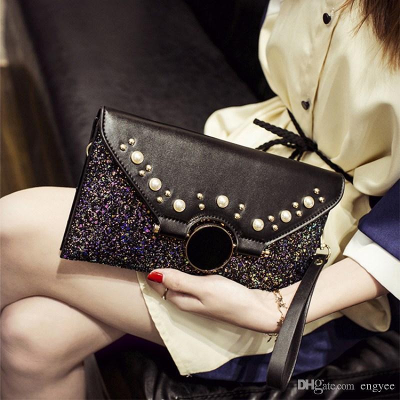 Alta Qualidade Mulheres Saco De Embreagem Bolsas De Couro Moda Senhoras Pequena Bolsa de Ombro Sling Bolsa Da Embreagem Sacos de Festa de Luxo