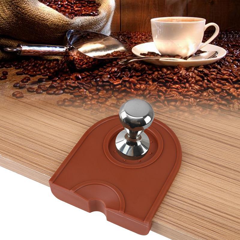 Ręczny Barista Kawa Espresso Wielofunkcyjna Zagęszczona Anti-Swid Odporność na noszenie Kawa Uchwyt Silikonowy Pad Mata Kuchnia AC