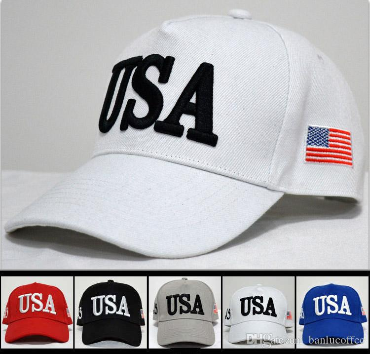 Casquettes respirantes réglables Trump USA 45 Chapeau de baseball Hip Hop pour le printemps et l'été à capuchon rouge B B