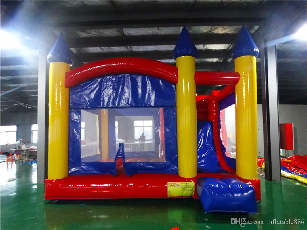 2018 colorful Commercial PVC jumping castle for kids inflatable bounce house indoor playground