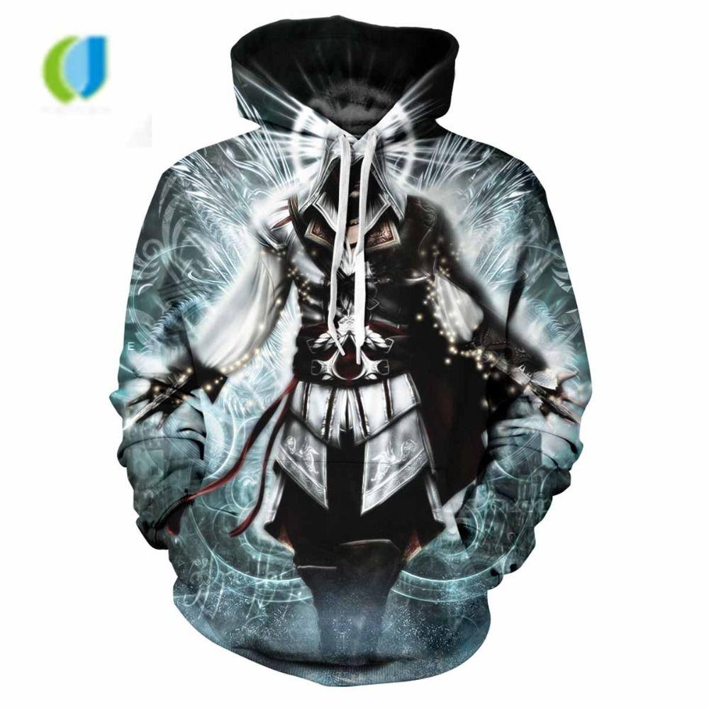 Assassin's Creed Hoodie - Sweat à capuche pour hommes occasionnel - Veste à capuche - Mode pour hommes - 2018 Street Clothing - Grande taille