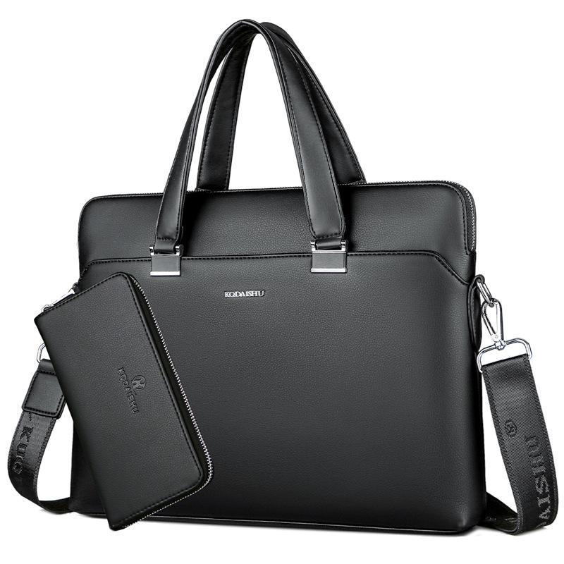 BERAGHINI Hombres de Negocios Bolso Maletín de Cuero de LA PU Diseñador de Lujo Bolsa de Ordenador Portátil Oficina de Gran Capacidad Maletín Male Shoulder Bags