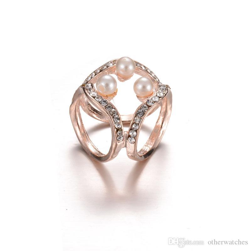 Модный простой бриллиантовый шарф с тремя кольцами