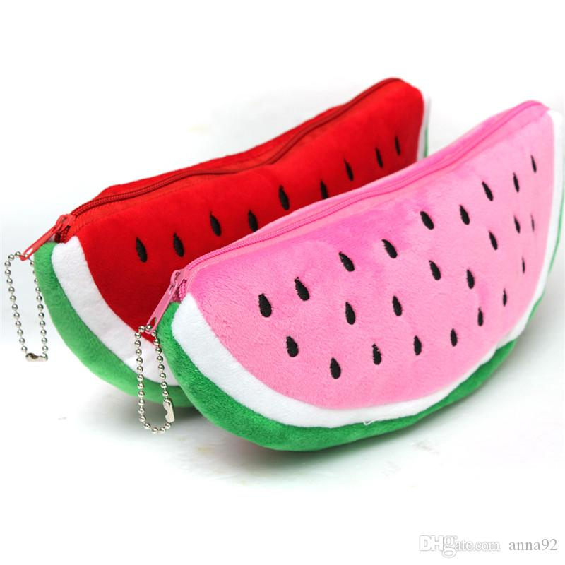 Red Practical Case Volume Watermelon Kids Pen Pencil Case Gift Cosmetics Purse Wallet Holder Pouch For Student Officer free shipping 2018