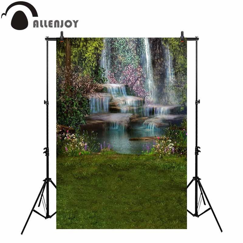 оптом фотография фон водопад пейзаж трава гора цветок природа фон фотоколл фотосессия опора фотобудка