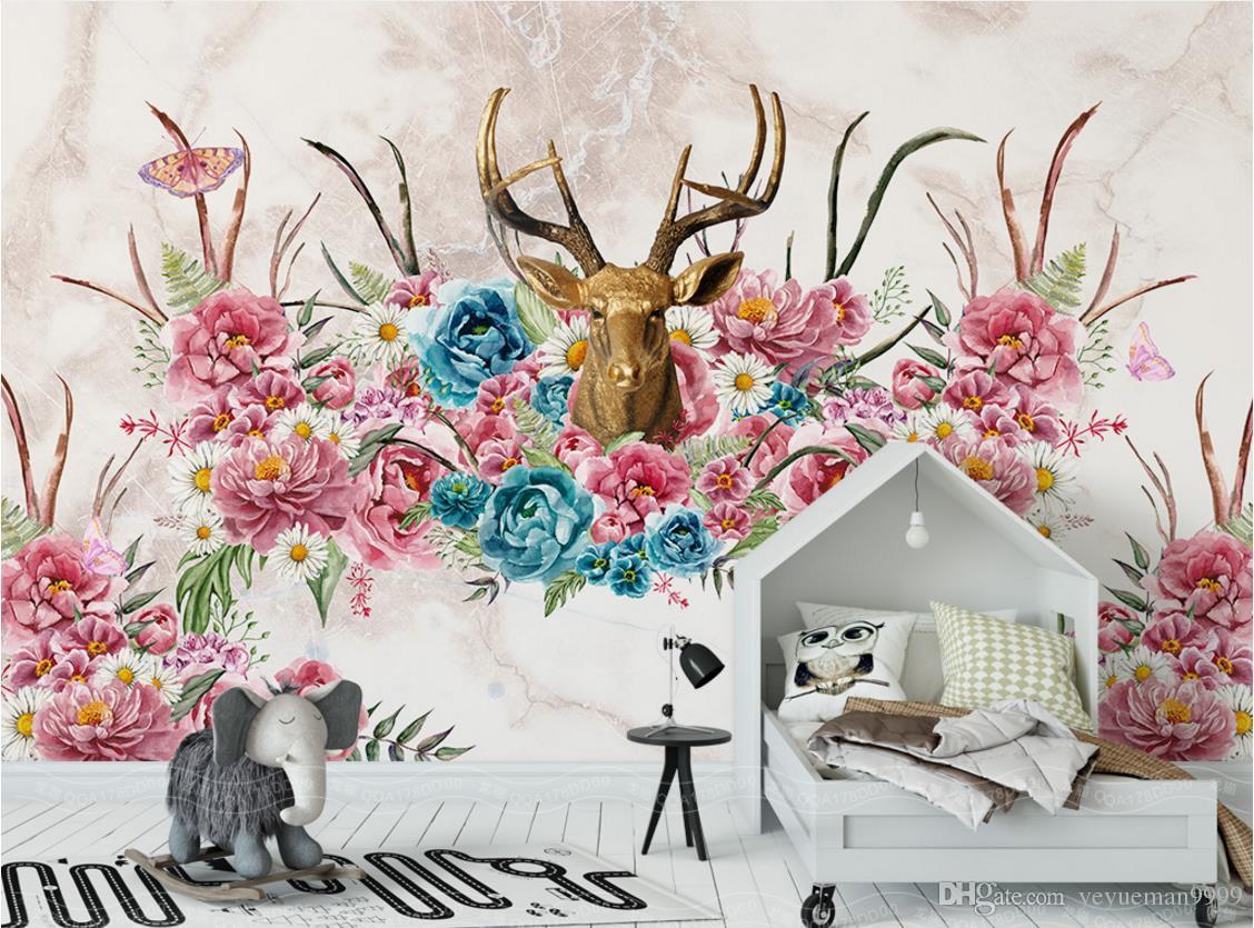 Personalizzato casa miglioramento animali bambini camera da letto carta da parati soggiorno tv sfondo sfondi 3d muro