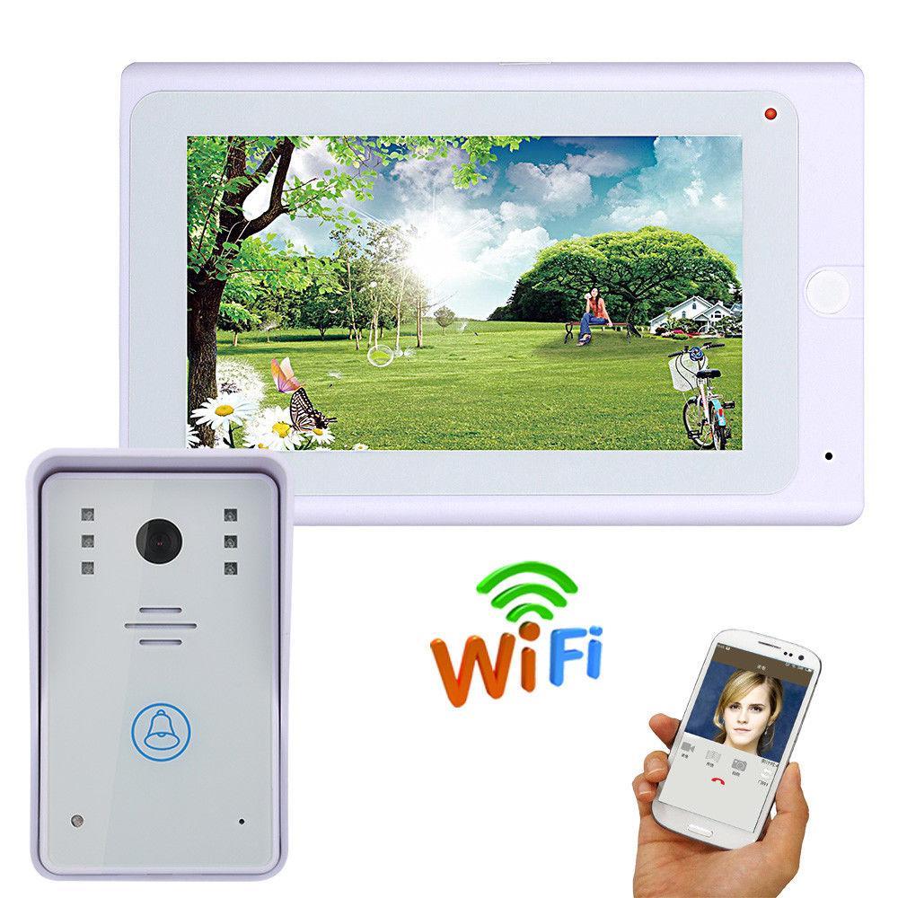 7 بوصة 720P الفيديو باب الهاتف الجرس كيت فيديو نظام الاتصال الداخلي مع APP التحكم عن بعد السلكية / اللاسلكية واي فاي IP اتصال