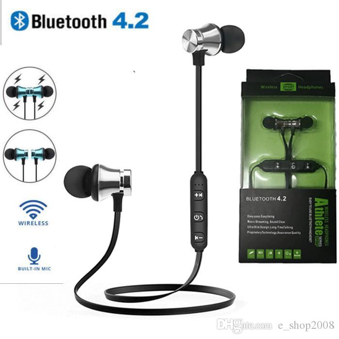 XT11 Magnet Sport Headphones BT4.2 Wireless Stereo Earphones with Mic Earbuds Bass Headset for iPhone Samsung LG smartphones Free DHL