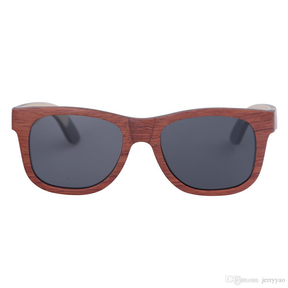 Sonnenbrille Holz de Frauen Männer Natürliche Skateboard Polarisierte handgemachte Oculos Sol Masculino Ardiw