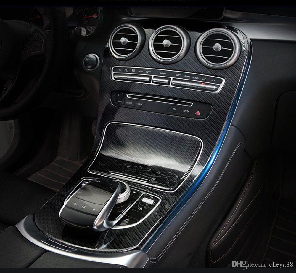 Consolle Centrale Auto.Acquista Copri Console Centrale In Fibra Di Carbonio Mercedes Benz Classe C Senza Orologio W205 C180l 2015 2017 Accessorio Auto A 50 26 Dal Cheya88