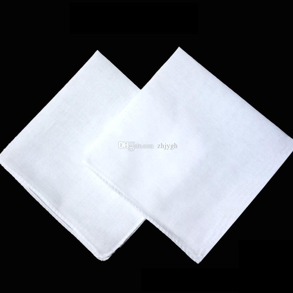 Оптовая продажа белый носовой платок, простой белый квадратный шарф, можно связать краситель живопись DIY печати, 34X34CM бесплатная доставка