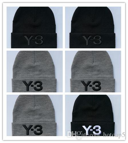 Top Selling Letter Y-3 Casual Beanies for Men Women Fashion Knitted Winter Hat Solid Color Hip-hop Skullies Bonnet Unisex Cap