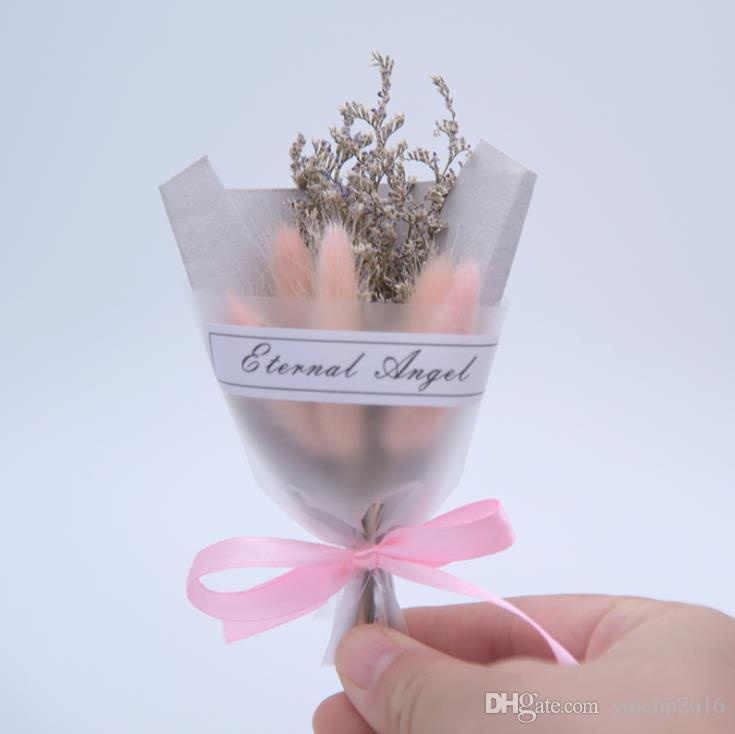 Lipstick photo props color immortal crystal grass mini bouquet decoration activity gift giveaway