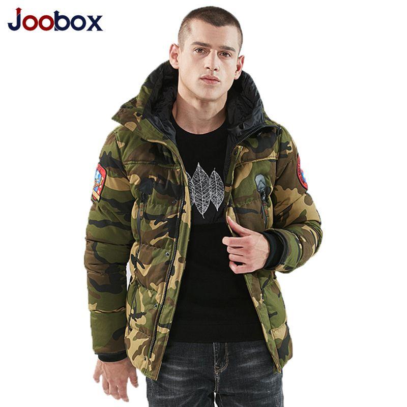 Hiver Mens Camo Vestes Extended Parka Chaud Coton Mâle Doublé Longline Camouflage Manteaux Plus La Taille