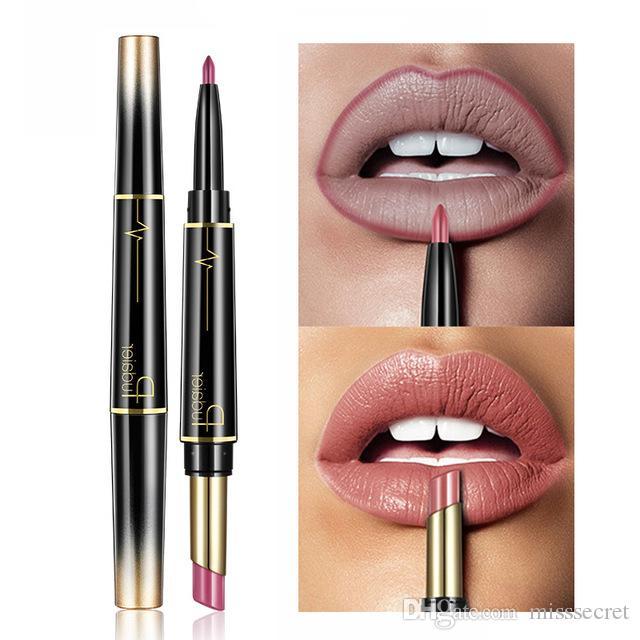 Pudaier Brand Double Head Matte Lipstick Makeup Lip Liner Pencil Sexy Wateproof Long Last Lip Gloss