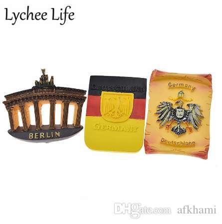 Lychee vida símbolo alemán refrigerador etiqueta magnética famoso recuerdo turístico regalo imán de nevera decoración de la cocina moderna casa