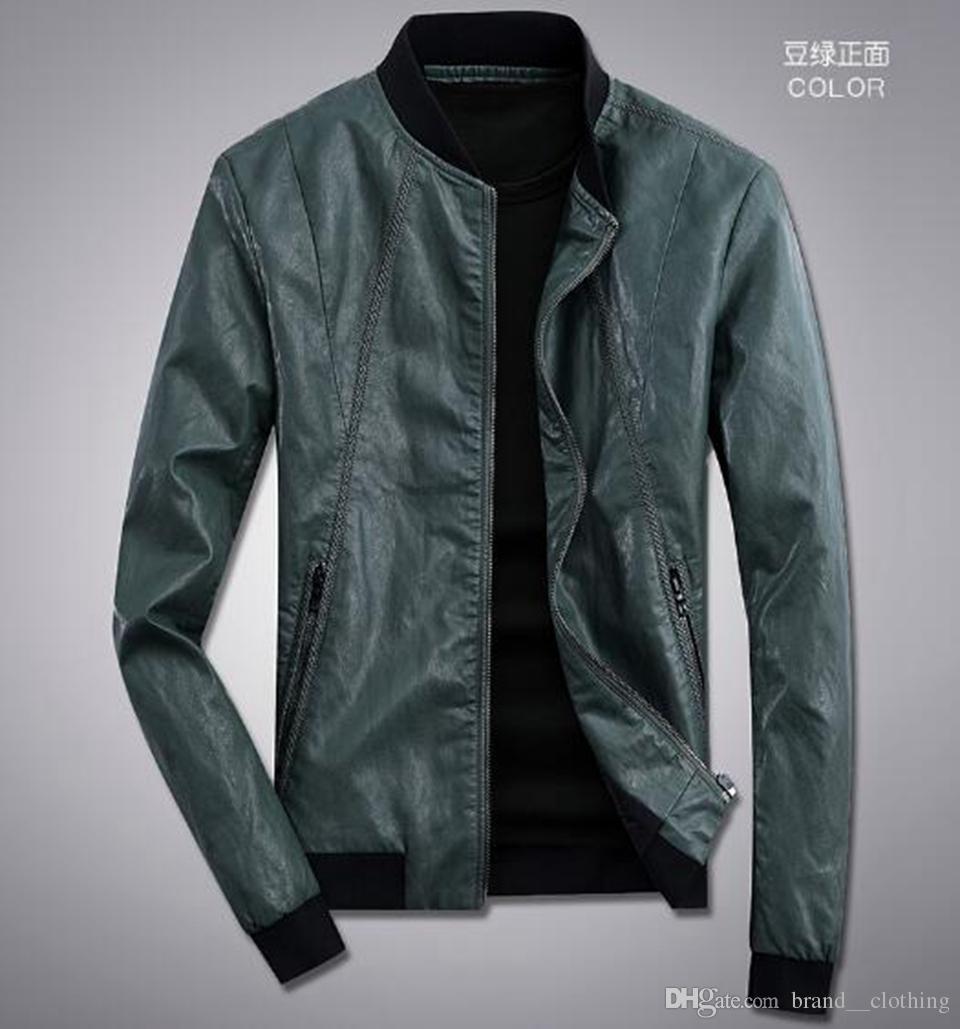 Automne et hiver pour hommes Europe et les États-Unis boutique de mode style personnel beau manteau de cuir locomotive lâche 7890 / M-3XL