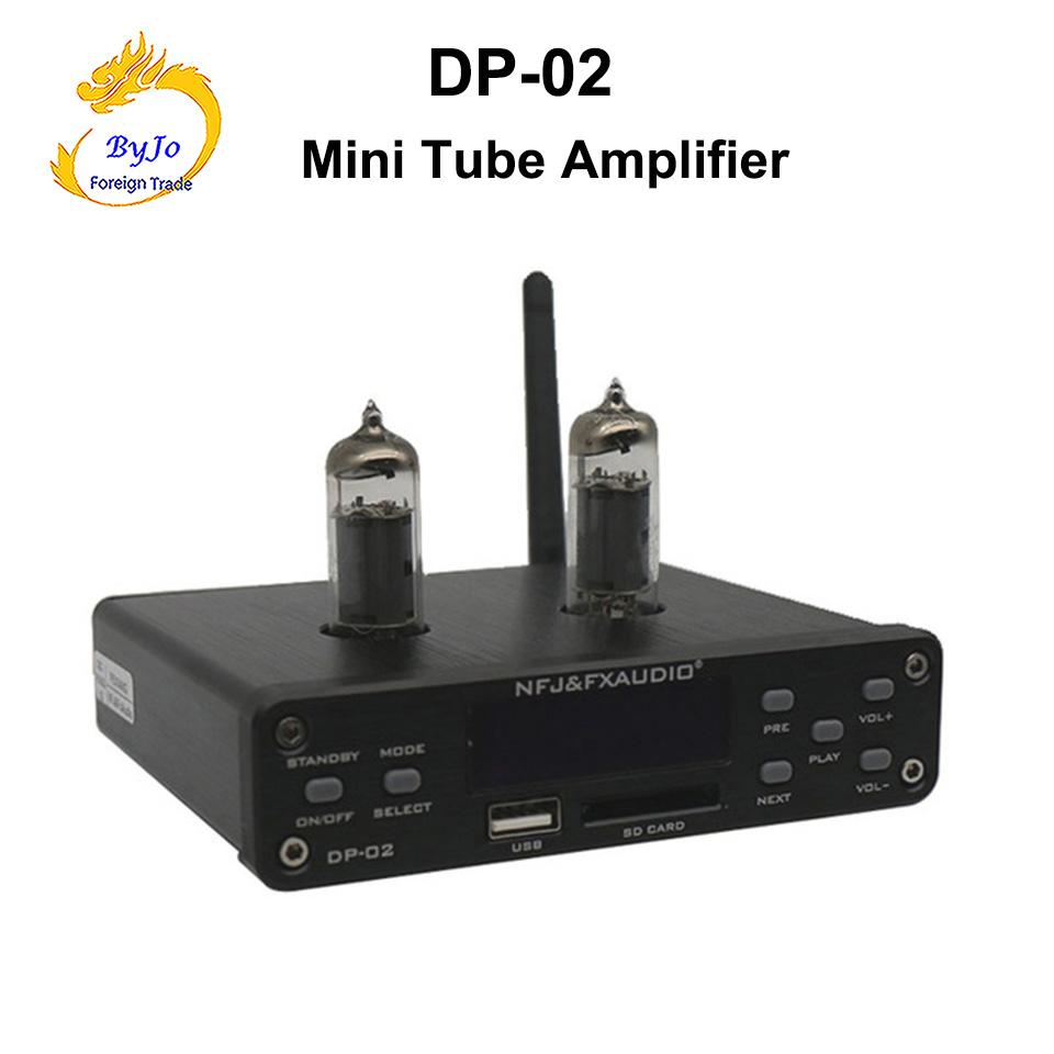 DP-02 Bluetooth 4.0 HiFi 6k4 관 증폭기 휴대용 전치 증폭기 헤드폰 증폭기 오디오 널 U 디스크 SD 카드 입력