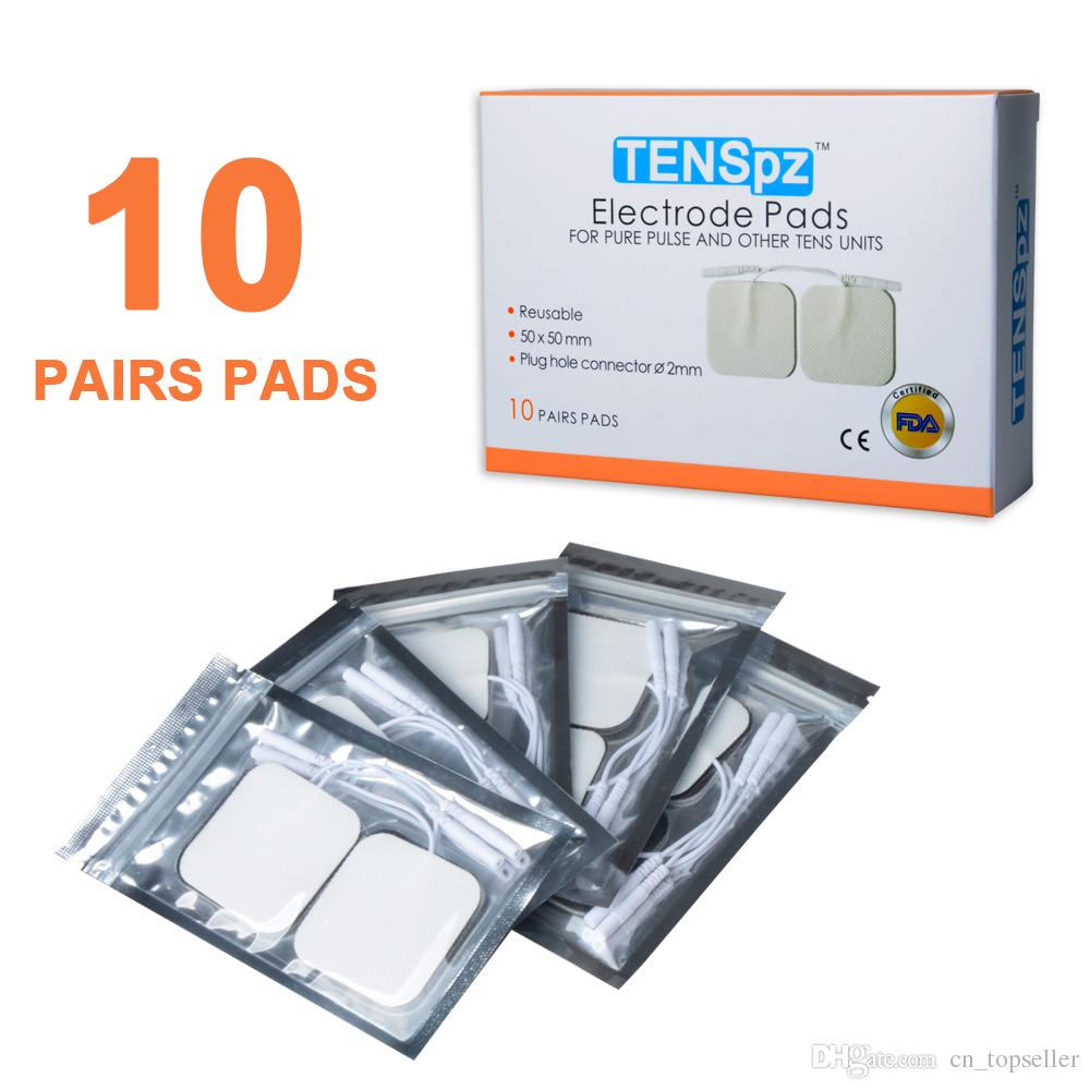 """Konmed FDA Cleared Alta Qualidade Premium Não-tecido 2 """"x 2"""" Massagem Eletrodo Pads, um Conjunto de 20 Pcs (10 pares)"""